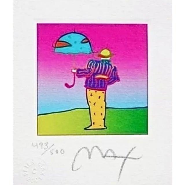 Peter Max Cosmic Umbrella Man 2003 For Sale