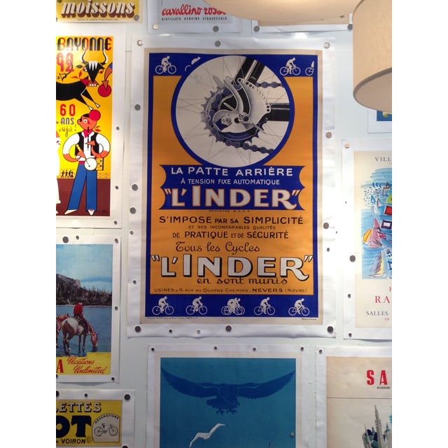 Vintage French L'Inder Bike Poster - Image 3 of 8