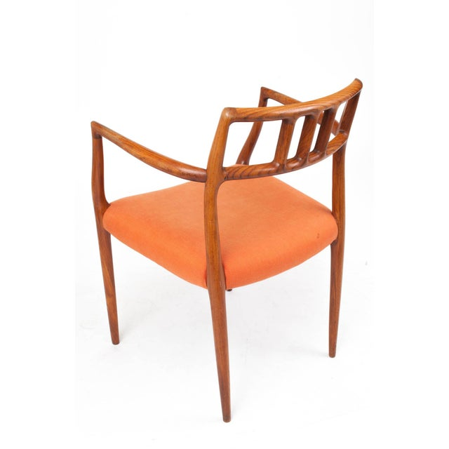Art Deco 1960s Danish Modern Niels Otto Møller Teak Armchair For Sale - Image 3 of 7