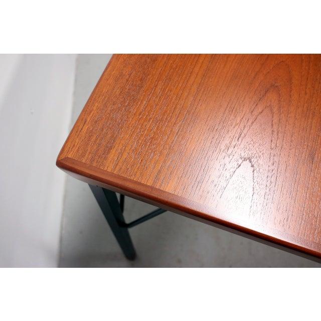 Metal Vintage Danish Modern Arne Vodder for Jon Stuart Teakwood Writing Desk For Sale - Image 7 of 12