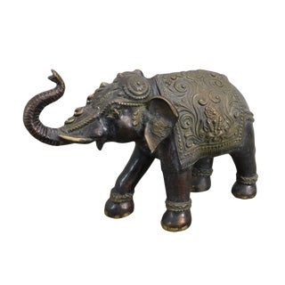 Quality Brass Indian Elephant Statue For Sale