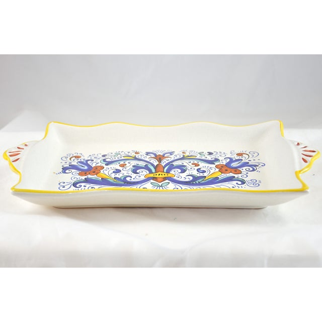 Hand Painted Blue Deruta Italian Tray - Image 3 of 4