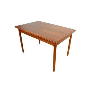 1980s Vintage Danish Modern Teak Dining Table For Sale