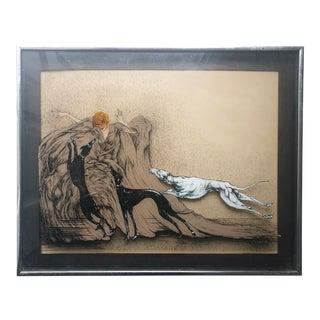 Art Deco Plexiglass Painting by Nizolek For Sale