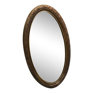 Late 20th Century Vintage Oval Mirror For Sale