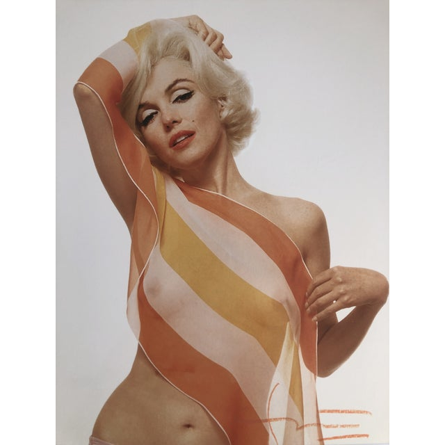 Orange Marilyn Monroe / Striped Scarf Bert Stern Photograph Circa 1962 For Sale - Image 8 of 11