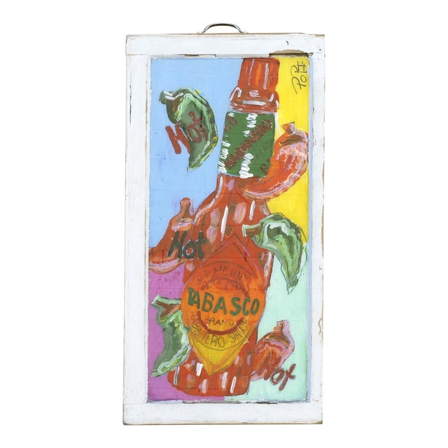 Tabasco Folk Art Painting by Popi Cotrell For Sale