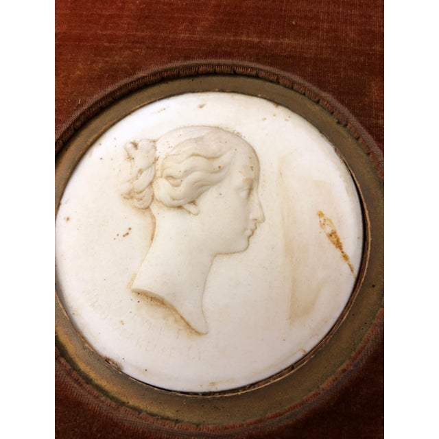 Pair Sevres Bisque Plaques of French Emperor Napoleon III & His Wife by J. Peyre For Sale - Image 10 of 11