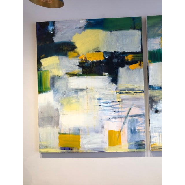 Abstract Original Diptych Painting - 2 Pieces For Sale - Image 3 of 5
