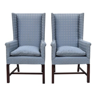 Hickory Wing Back Chairs - A Pair