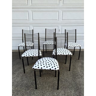 Modern Regency Style Wire Barrel Chairs - Set of 6 Preview