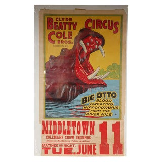 Clyde Beatty Cole Circus Poster For Sale