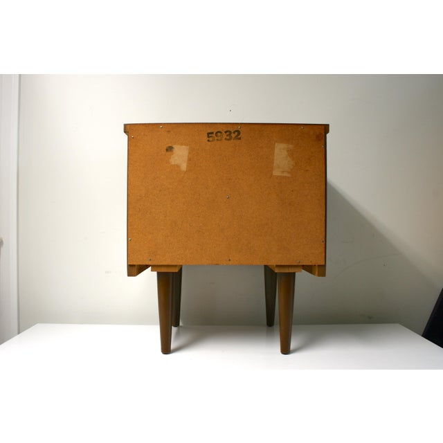 Mid 20th Century Mid Century Modern 2-Drawer Nightstand For Sale - Image 5 of 9