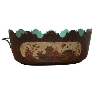 18th Century French Tole Montieth Bowl For Sale