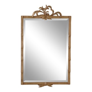 Friedman Brothers Custom Made Gold Framed Mirror For Sale