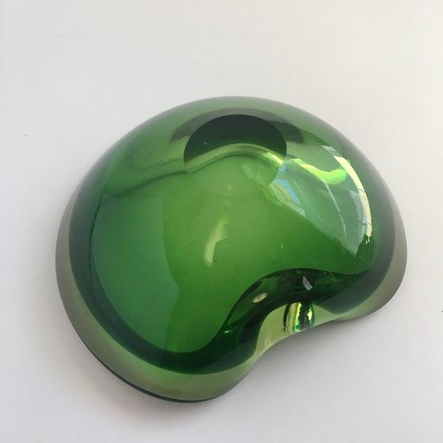 Contemporary Flavio Poli Green Murano Glass Dish For Sale - Image 6 of 8