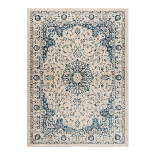 Journey Karina Traditional Medallion Cream Rectangle Area Rug - 8' x 10'