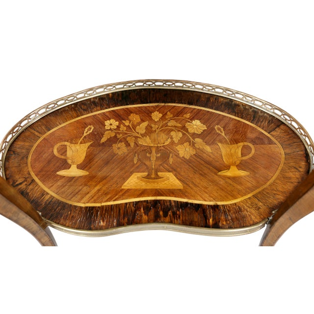 Louis XVI Style Marquetry Table A' Ecrire For Sale In Boston - Image 6 of 13