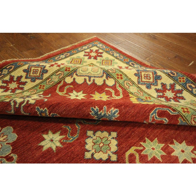 Super Kazak Hand Knotted Rug Red - 9' x 12' - Image 9 of 11