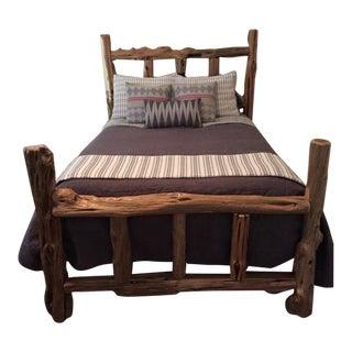 Vintage Log Bed For Sale