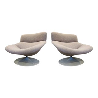 Geoffrey Harcourt for Artifort Mid-Century Modern Swivel Chairs - a Pair For Sale