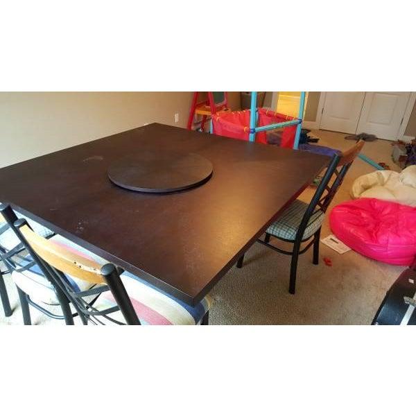 B & B Italia Black Oak Dining Table - Image 3 of 8