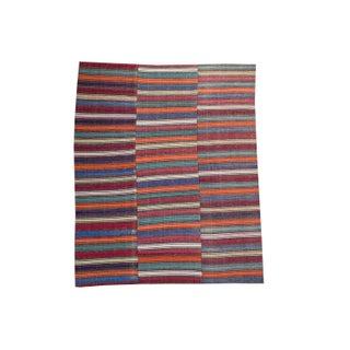 Vintage Turkish Flatweave Rug - 6′8″ × 8′5″ For Sale