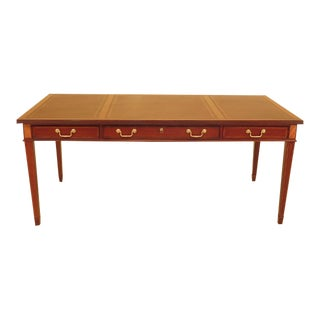Councill Leather Top Large Mahogany Executive Desk