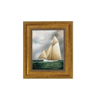 Racing Sloop Oil on Canvas Reproduction Painting For Sale