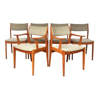 1960s Danish Modern Dining Chair Set - 6 Pieces For Sale