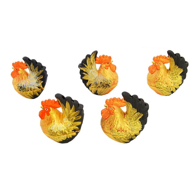 Collection of Rooster Incense Holders - Set of 5 - Image 2 of 5