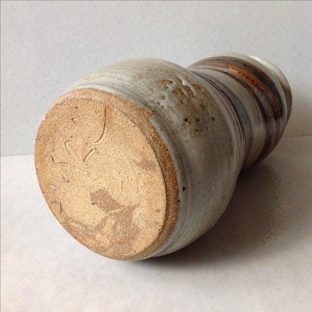 Studio Pottery Neutral Tone Glazed Vase - Image 11 of 11