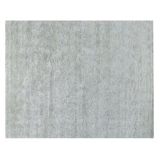 Stark Studio Rugs Contemporary Trapper Mint Wool Rug - 9′ × 12′ For Sale