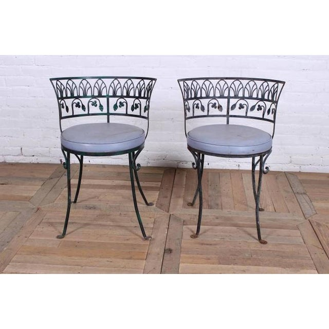 Pair of Grand Tour Style Salterini Garden Chairs, after the Greek Antique - Image 3 of 6