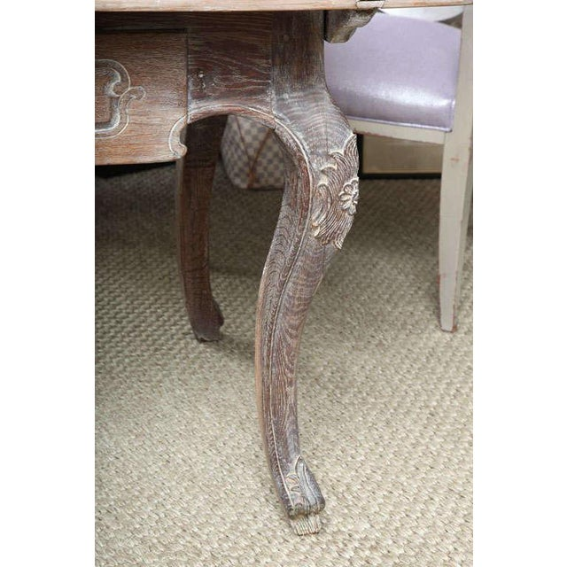 French Cerused Oak Writing Table For Sale - Image 9 of 11