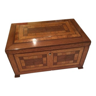 1910s Antique English Marquetry Box For Sale