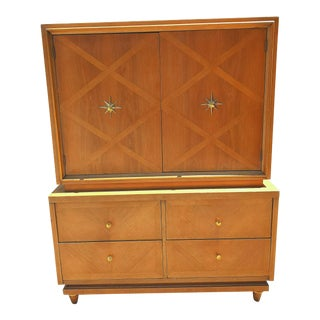 1950s Danish Modern American of Martinsville Wooden Chest of Drawers