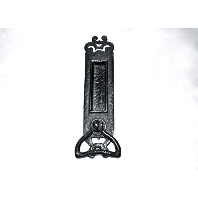 Cast Iron Nouveau Knocker W/Letter Slot For Sale - Image 10 of 10