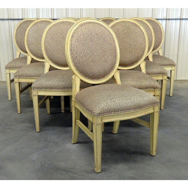 Set of 10 Louis XIV Style Dining Side Chairs For Sale - Image 13 of 13