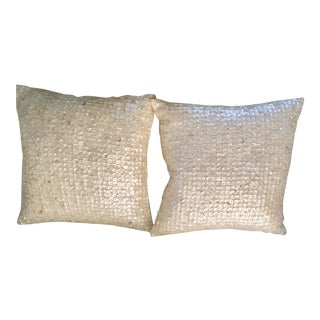 Mother-Of-Pearl Pillows - a Pair For Sale