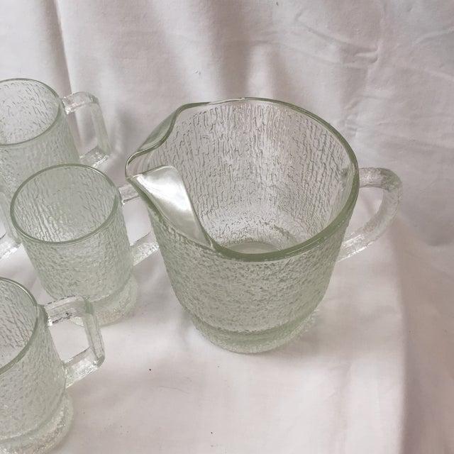 Transparent Vintage Tree Bark Texture Mugs & Pitcher Set For Sale - Image 8 of 8