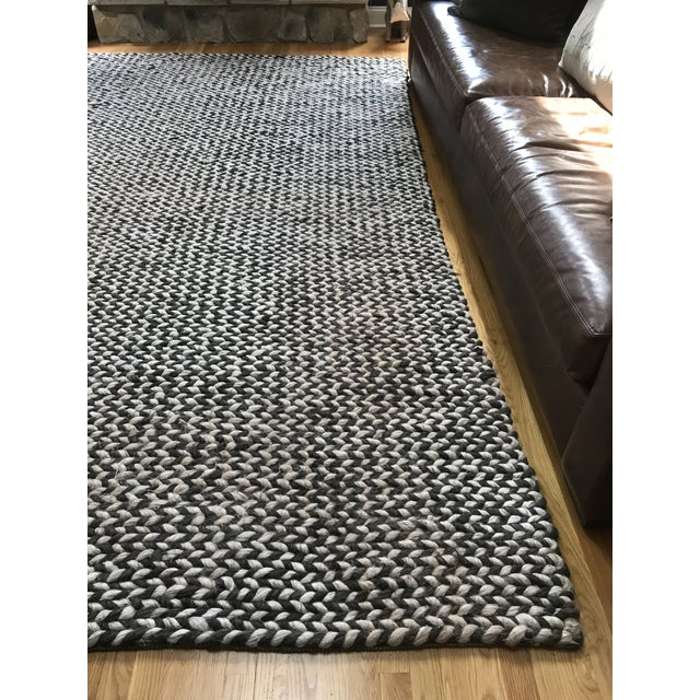 2010s Restoration Hardware Chunky Braided Twist Rug - 9′ × 12′ For Sale - Image 5 of 6