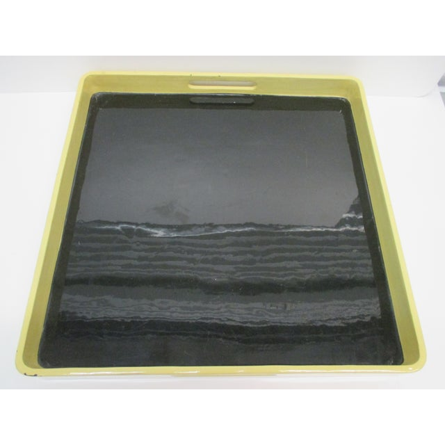 Lacquered Serving Tray by Mitchell Gold & Bob Williams With Handles For Sale In Miami - Image 6 of 6