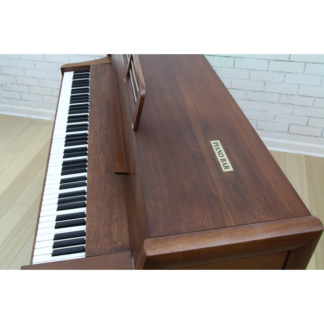 Mid-Century Modern Hidden Piano Bar With Liquor Wine Storage - Baldwin Acrosonic For Sale - Image 11 of 12