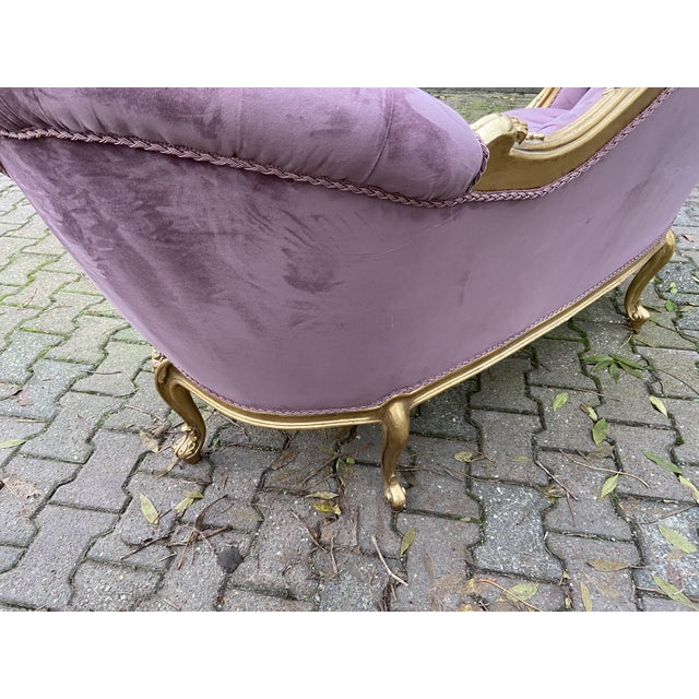 New Purple French Louis XV Style Sofa. Made to Order For Sale - Image 6 of 8