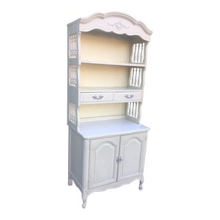 Vintage French Provincial Bookcase For Sale