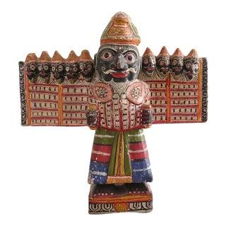 Antique Hindu Paper Mache Ravana Statue