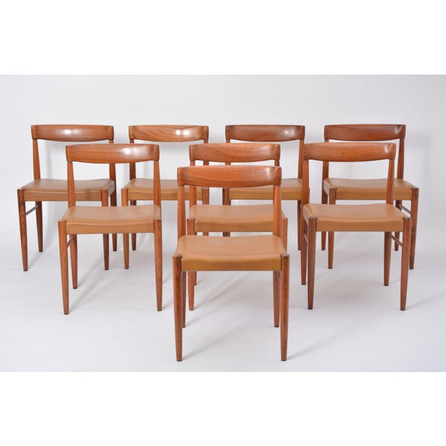 Wood Set of 8 Midcentury Dining Chairs by h.w. Klein for Bramin For Sale - Image 7 of 12