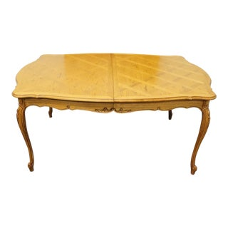 20th Century French Country Thomasville Camille Collection Inlaid Dining Table For Sale
