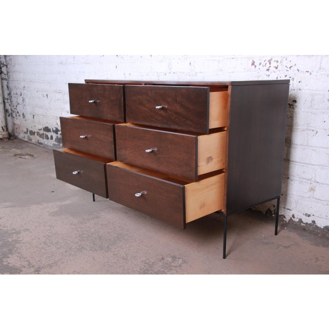 Paul McCobb Planner Group Iron Base Six-Drawer Dresser or Credenza For Sale In South Bend - Image 6 of 13